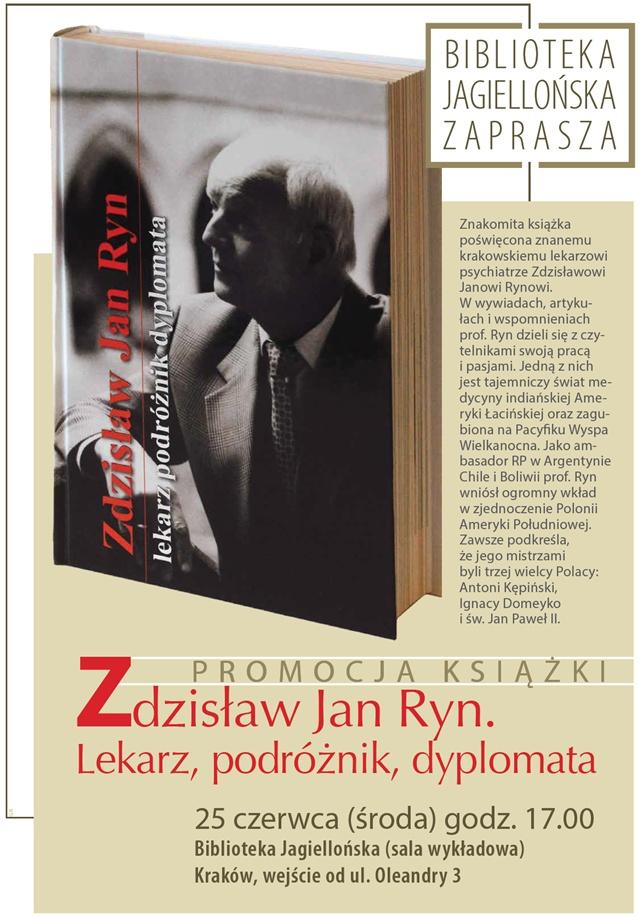 Promocja ksiazki �Zdzislaw Jan Ryn. Lekarz, podr�znik, dyplomata ...