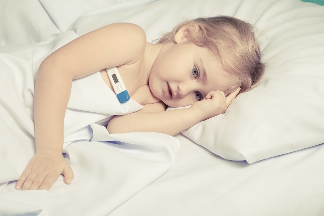 ill, sick, child, sickness, illness, heat, gorączka