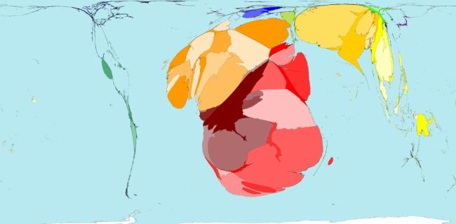Ryzyko cholery wyrażone graficznie