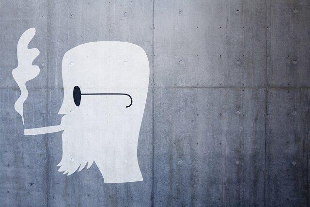 mural palenie