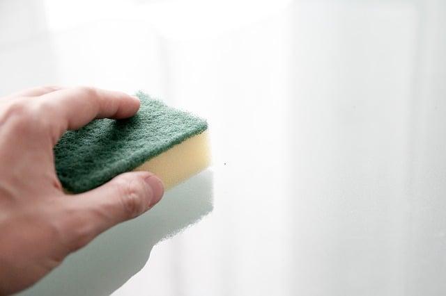 czyszczenie gąbką
