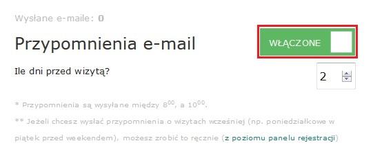 e033d55b94122b Przypomnienia e-mail/SMS - Pomoc E-Rejestracja - pomoc - Empendium