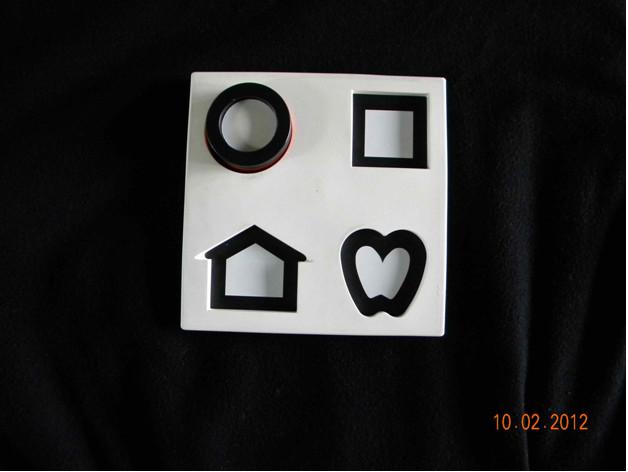 Karta do badania ostrości widzenia zbliska (symbole Lea)