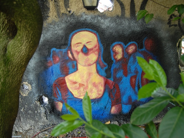 swine flu, AH1N1, street art
