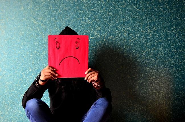 unhappy, sad
