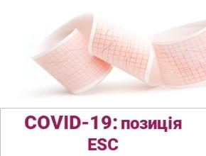 Порушення серцевого ритму іпровідності під час пандемії COVID-19 васпекті актуальних наукових даних тапозиції ESC