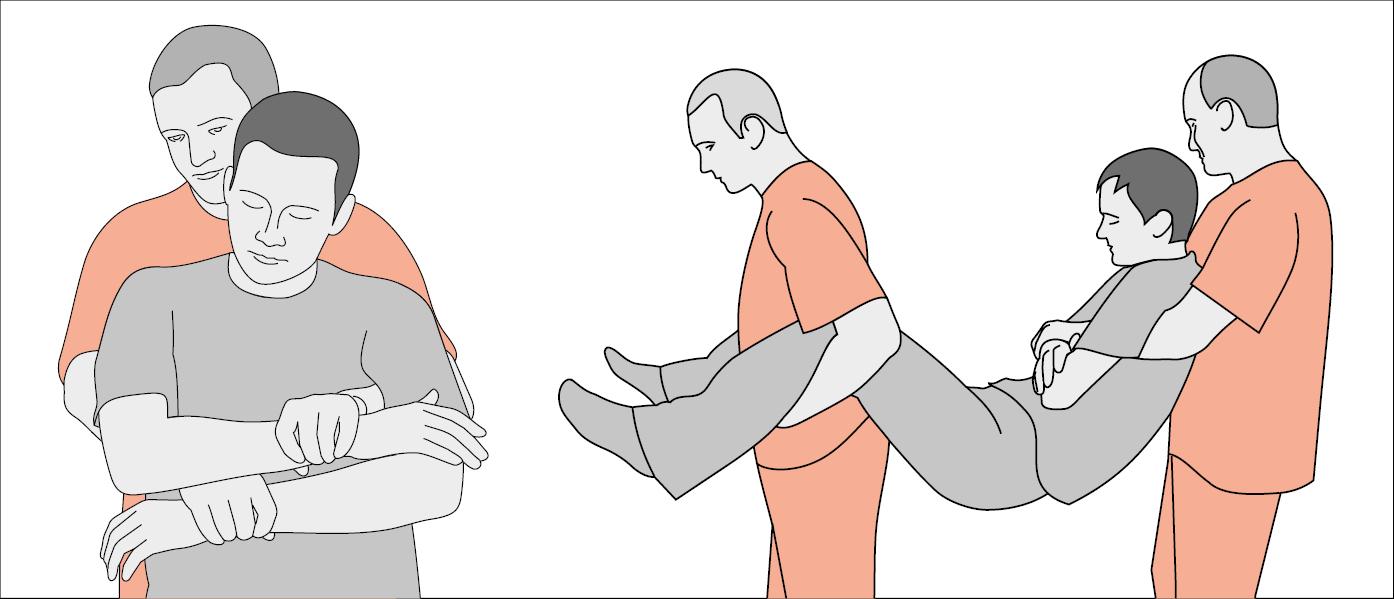 Безпечне переміщення людини у непритомному стані, без травми, за участі двох осіб