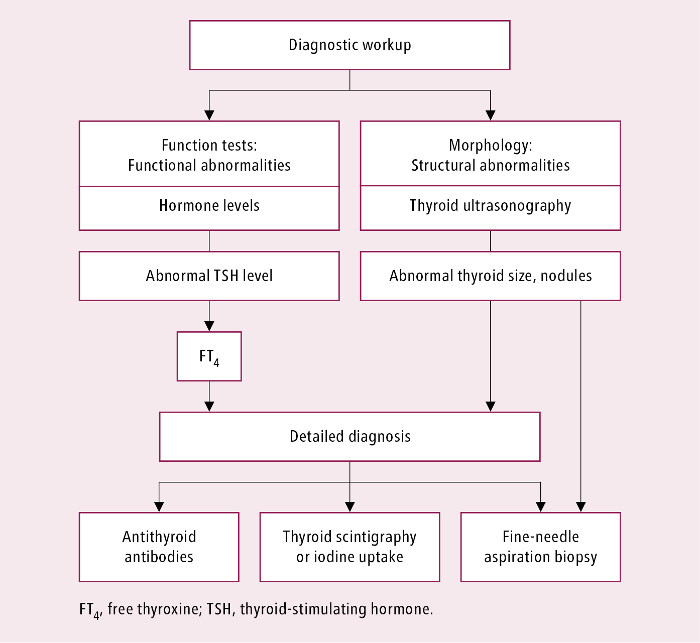 Figure 031_1_0719.  General diagnostic algorithm for disorders of the thyroid gland.