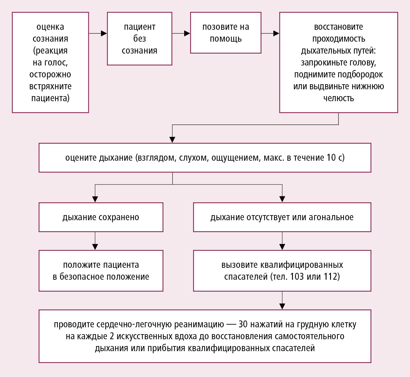Алгоритм базовых реанимационных мероприятий — BLS (на основании рекомендаций ERC)