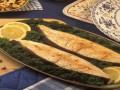 Halibut z gotowanymi warzywami